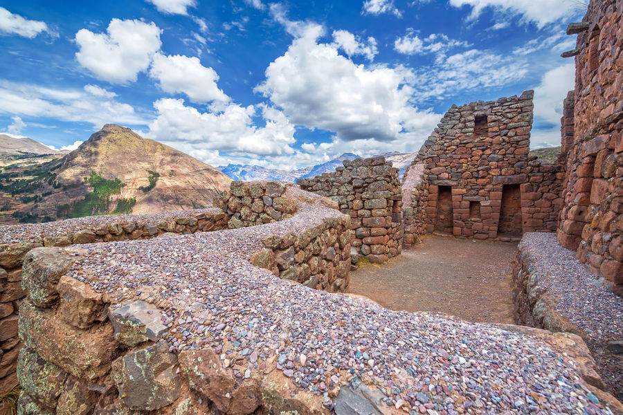 Ancient Incan ruins of Pisac in the Sacred Valley near Cusco Ancient Andes Cusco Destination Famous Inca Landmark Landscape Lost Mountain Outdoors Peru Pisac Pisac Perú Ruin Ruins Sacred Valley Sacred Valley - Peru Stone Terrace Tourism Trail Travel Urubamba Valley