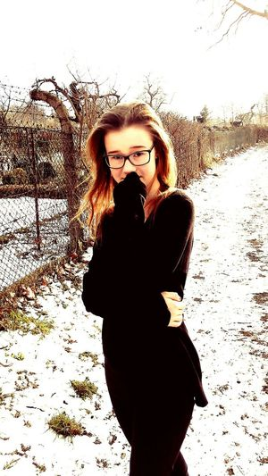 Polishgirl Go To The Wolk Cold Pritty Snow ❄ Taking Photos Relaxing