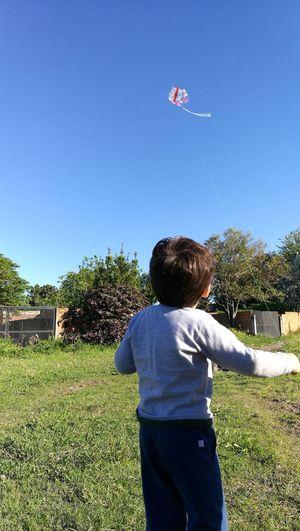 Rienda suelta Nature Boy Love Child Barrilete Niños Jugando FELICIDAD ♡♥