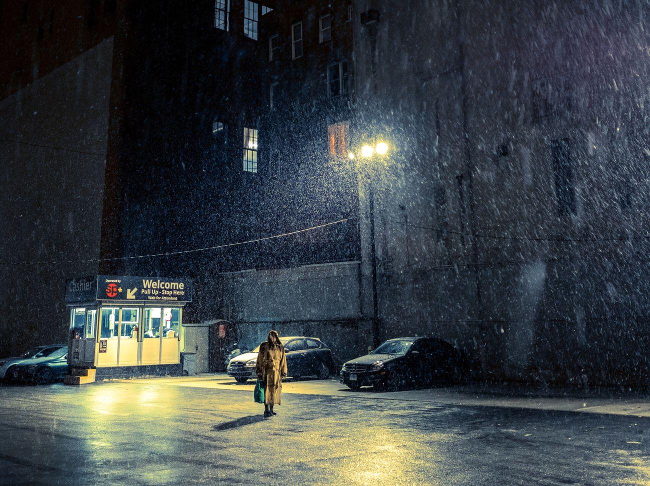 walking, real people, street, wet, men