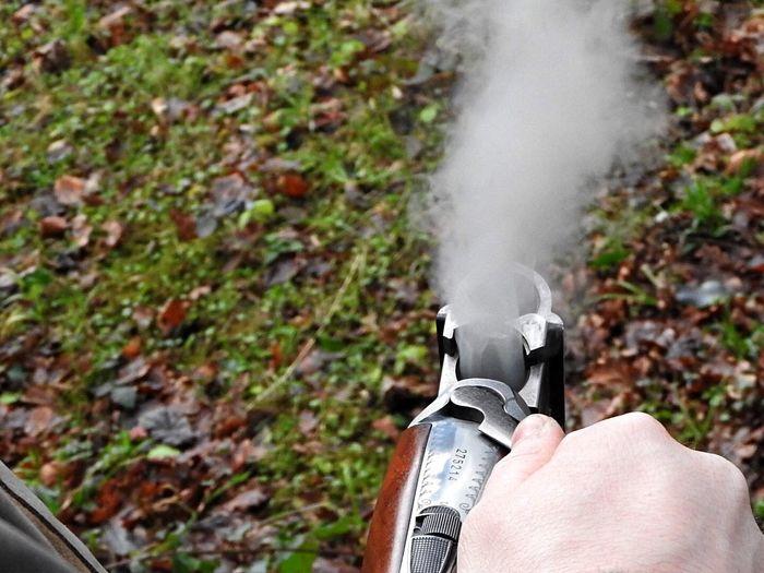 Shotgun Gun 12guage Woods Shooting Leaves Smoke Justshoot