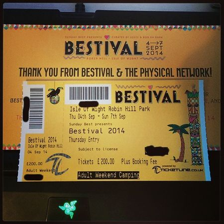 Bestival Ticket arrived today! Soooooo excited! Cannot wait ✌✌✌