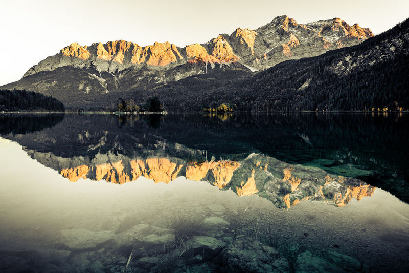 Eibsee – Other Style Eibsee Zugspitze Alps Lake Mountain No People Reflection Scenics Sunset Tranquil Scene Tranquility