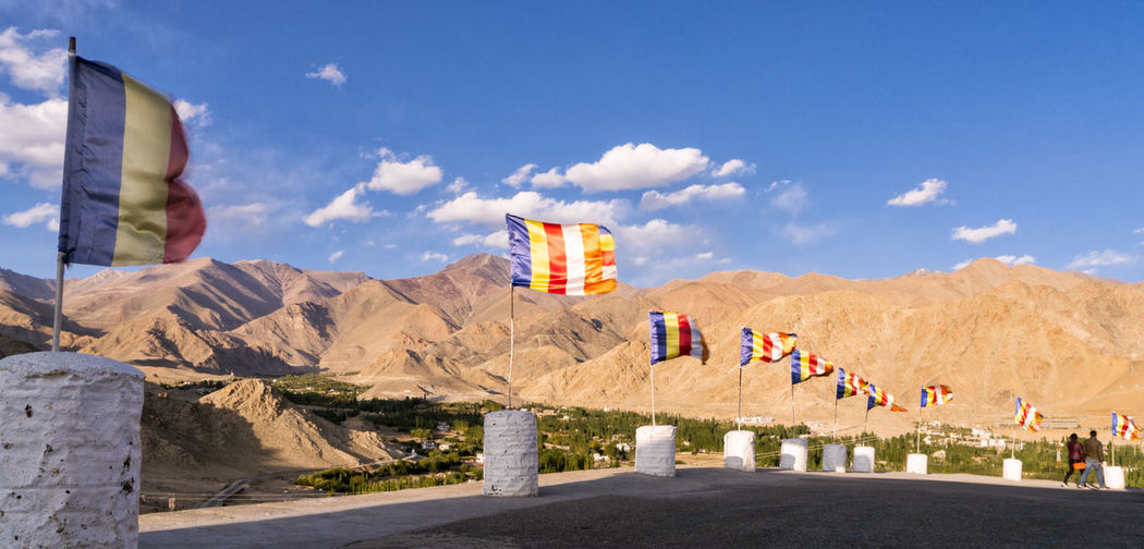 Scenes from Leh, Ladakh in then Himalayas ASIA Himalayas India Indian Culture  Ladakh Architecture Day Flag Indianstories Jammu And Kashmir Leh Mountain Nature No People Outdoors Patriotism Sky Sunlight