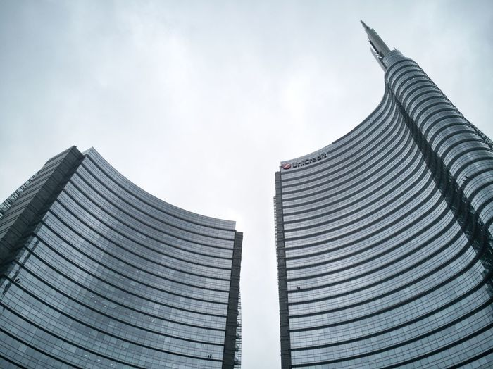 Europe Cloud - Sky Modern Architecture Milano Milan Lombardy Italy Architecture Building Industrial New Glass - Material City Urban Skyline Business Finance And Industry Modern Architecture Built Structure Tall - High Tower Office Building Cityscape Financial District  Skyline Communications Tower Television Tower