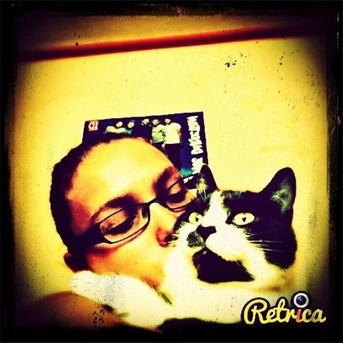 Me and the cat Relaxing