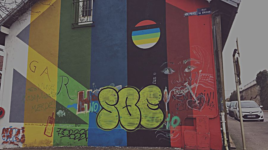 Street art Graffiti Text Communication Street Art Built Structure Day Multi Colored Architecture City No People Outdoors