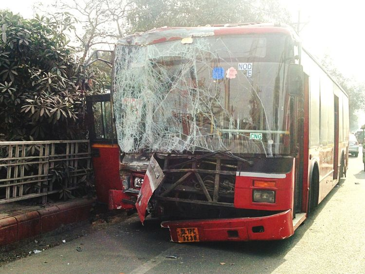 What The Bus? Crushed Damn!!! Dtc Bus