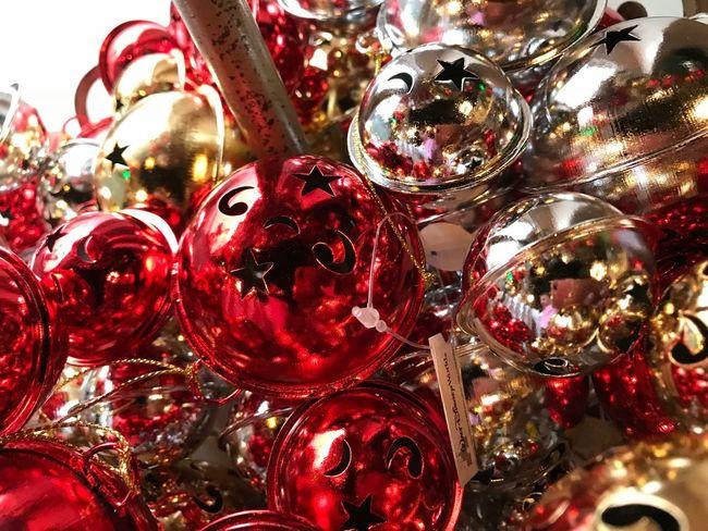 Jingle Bells Decoración Navideña Cascabel Xmas Navidad Cascabeles Holiday Christmas Christmas Decoration Decoration Celebration Christmas Ornament Full Frame Holiday - Event Close-up Backgrounds
