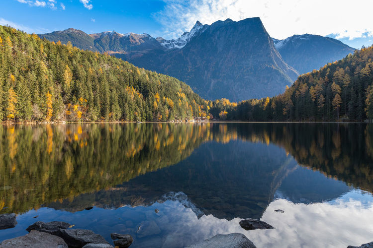 Autumn at lake Piburg Tirol  Tyrol-Austria Austria Mountains Berge Landscape Landschaft Nature Photography Ruhe Herbst Herbststimmung Autumn colors Nature Ruhe Und Stille Water Mountain Lake Tree Autumn Beauty Reflection Multi Colored Mountain Peak Reflection Lake