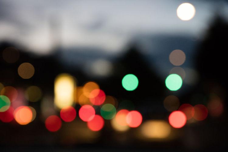 Backgrounds Blur Bokeh City Lights Evening Light And Shadow Lights Street Traffic Traffic Lights
