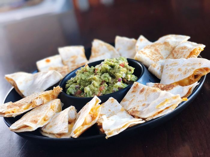 Quesadillas!!! Quesadillas Food Food And Drink Freshness Ready-to-eat Wellbeing Healthy Eating Close-up Serving Size No People Still Life Plate Indoors  Table Mexican Food Focus On Foreground Vegetable Meal Asian Food Bread High Angle View