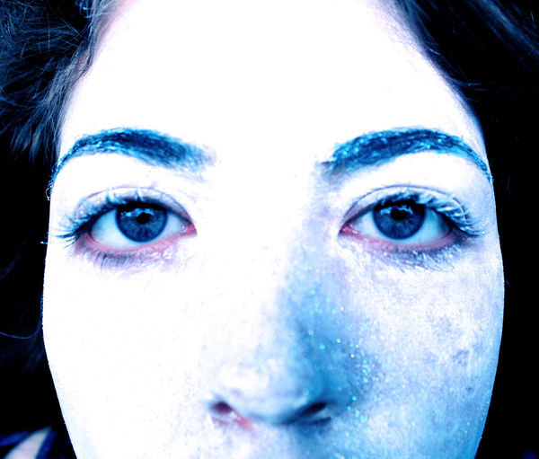 Cold Color Manipulation Creativity Done Frost Human Representation Looking At Camera Portrait