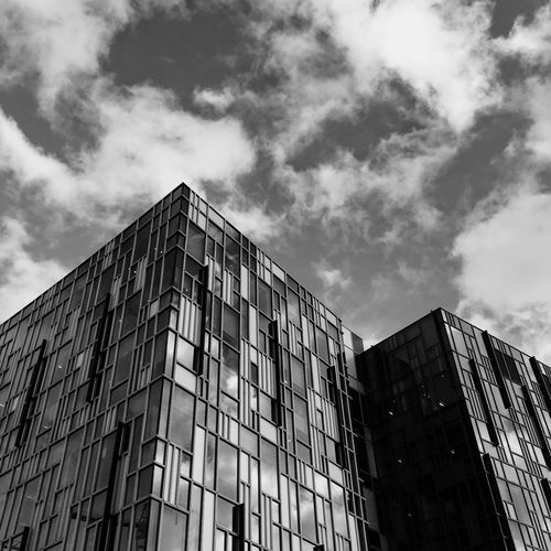 Building Exterior Architecture Built Structure Low Angle View Sky Window No People Building Outdoors Apartment Day Cloud - Sky City Modern Construction Architectural Style London Streetphotography