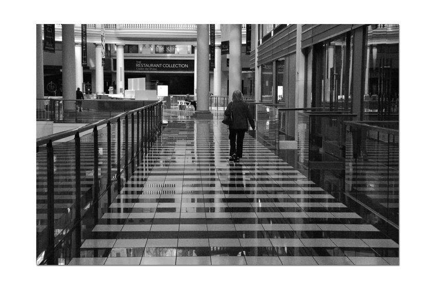The Floors @ Westfield San Francisco Centre 2 Upscale Urban Shopping Mall Downtown S.F. Monochrome_Photography Monochrome Pattern Pieces Geometric Patterns Woman Walking Mall Opened 1991 Owned By The Westfield Group Forest City Enterprises 500,000 Square Ft. Redeveloped 2006 $440 Million 9 Anchor Tenets Century Theatres S.F. State University 9 Floors The Dome First Spiral Escalatores In U.S. Urban Photography Reflections Black & White Black And White Photography Black And White Black And White Collection