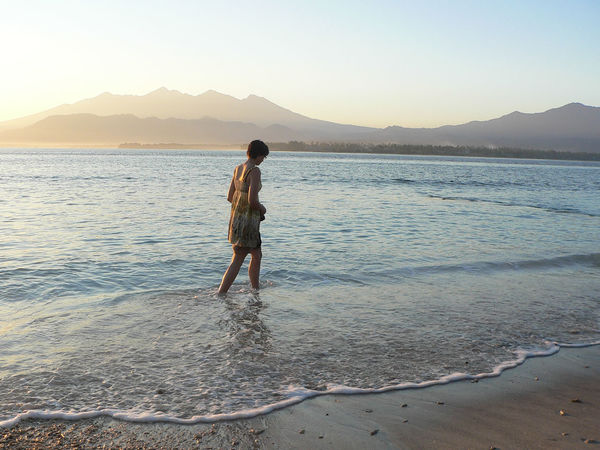 Sunrise wandering Calm Holiday Wandering Ankle Deep In Water Beach Beauty In Nature Clear Sky Full Length Girl Leisure Activity Lifestyles Mountain Nature One Person Outdoors Peaceful Real People Scenics Sea Sky Sunrise Sunset Vacations Water Young Adult
