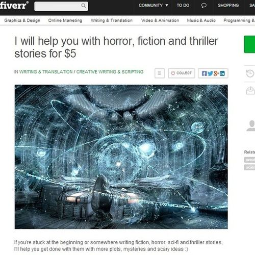 I'll help you with horror, thriller, mystery and fiction short stories for $5 fiverr: rishabnakarmi Creative Creativewriting Horror Thriller mystery writing payforwriting sci-fi ideas stories shortstories