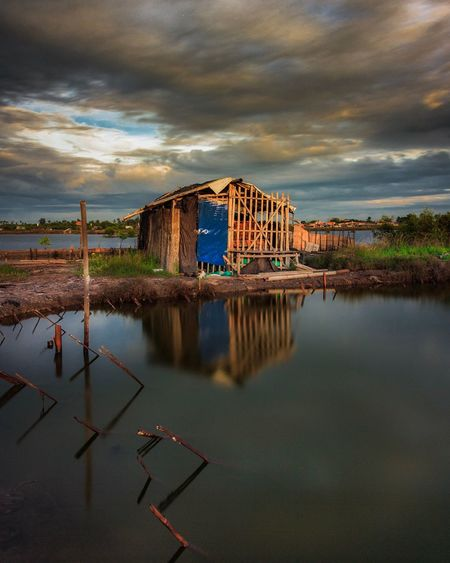 Sunrise at Tangerang Cloud - Sky Sky No People Water Architecture Day House Landscape Long Exposure Outdoors