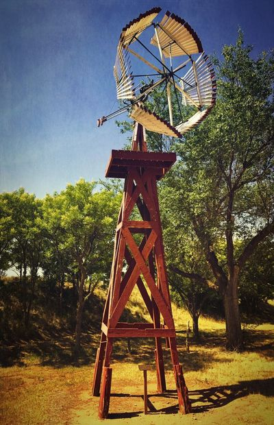 """""""A Windmill Of A Different Kind"""" Ranchers like to experiment too as is proof with this strange windmill at the National Ranching Heritage Center Museum in Lubbock, Texas. Ranching Texas West Texas Windmills Photography Windmills Windmill Alternative Energy Rural Scene"""