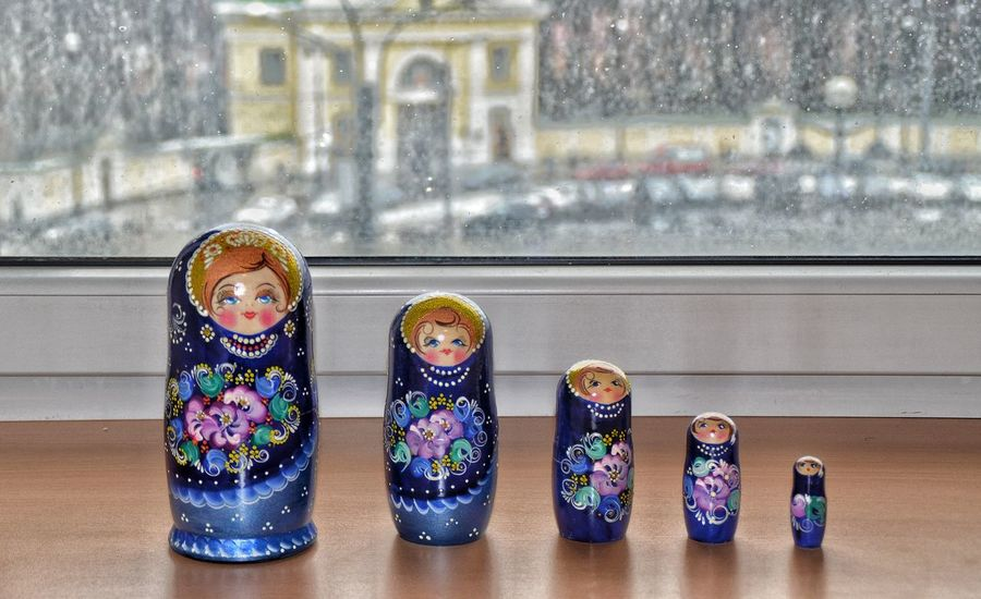 Matryoshka Nesting Dolls .. Window Focus On Foreground Nesting Doll Russian Doll Matryoshka Russian Folklore St. Petersburg, Russia Travel Around_the_world Tourism Travels EyeEmNewHere St. Petersburg Arts Culture And Entertainment