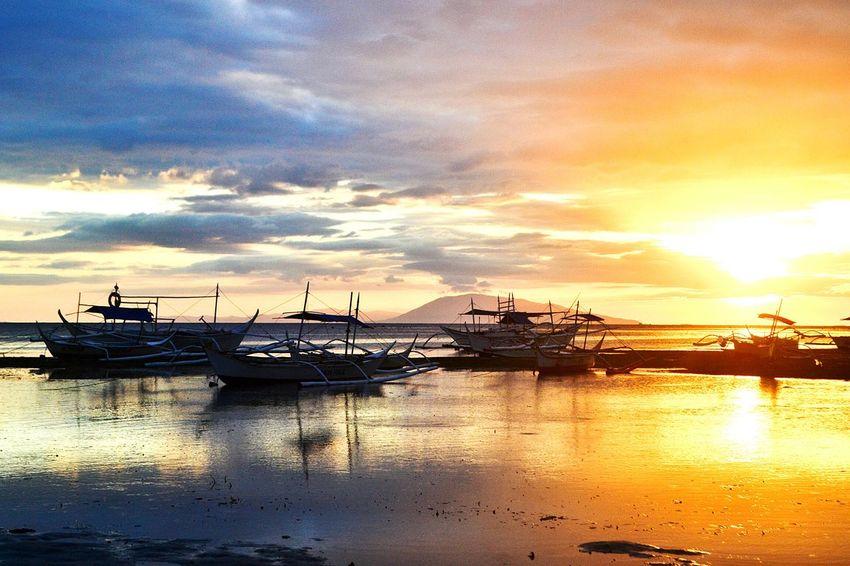 Sunset Reflection Sky Beach