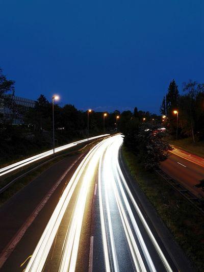 Slow Shutter B8 Düsseldorf Stockum Traffic Nightphotography Long Exposure Honor 7 Smartphonephotography Honor7