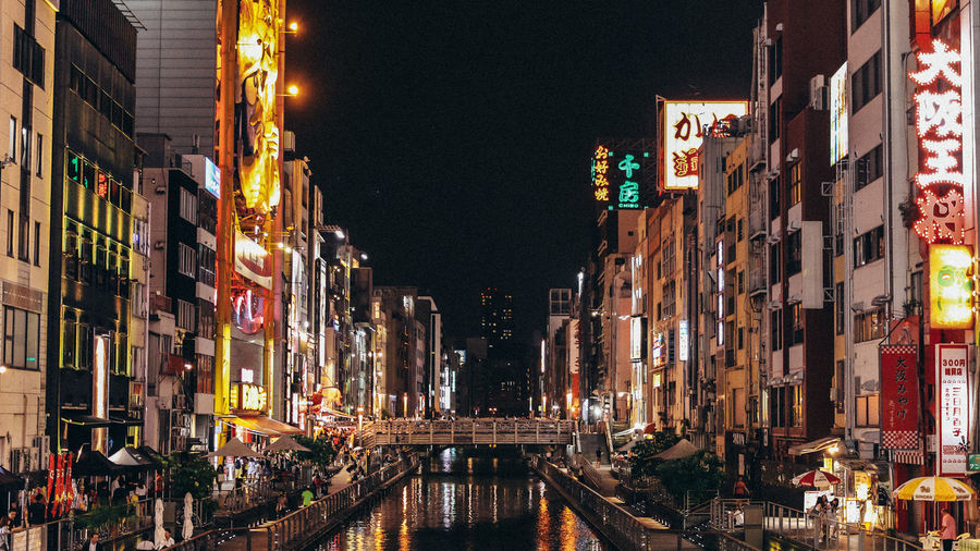 ASIA City City Life Cityscape Community Dōtonbori Namb W Namba Night Night Life OSAKA Osaka-shi,Japan Outdoors River Street Street Light Travel Urban Ultimate Japan GetYourGuide Cityscapes