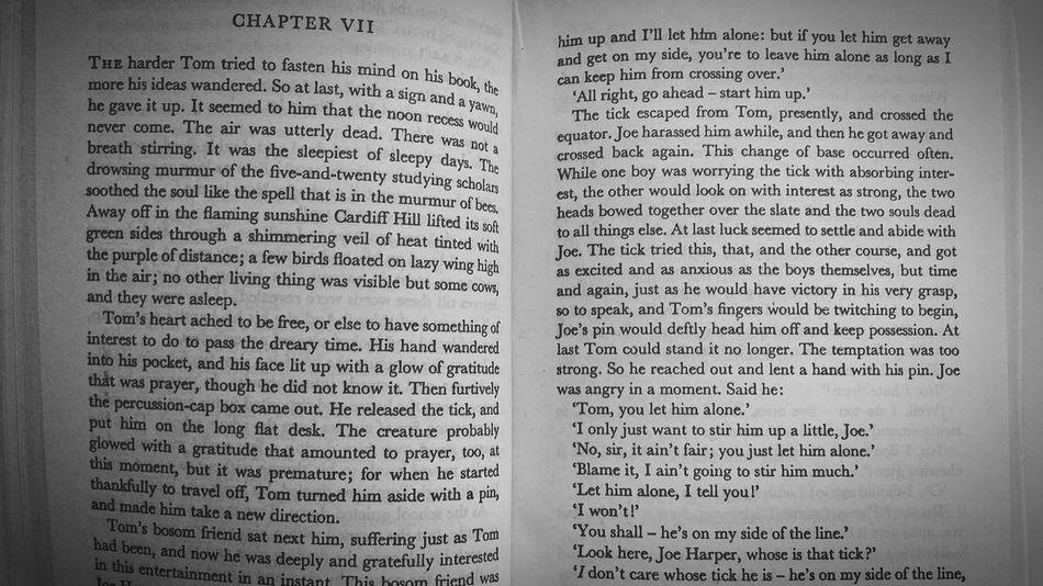 readingBook No People Enjoying Life Books Black And White Page Tom Sawyer English Morning Reading Morning