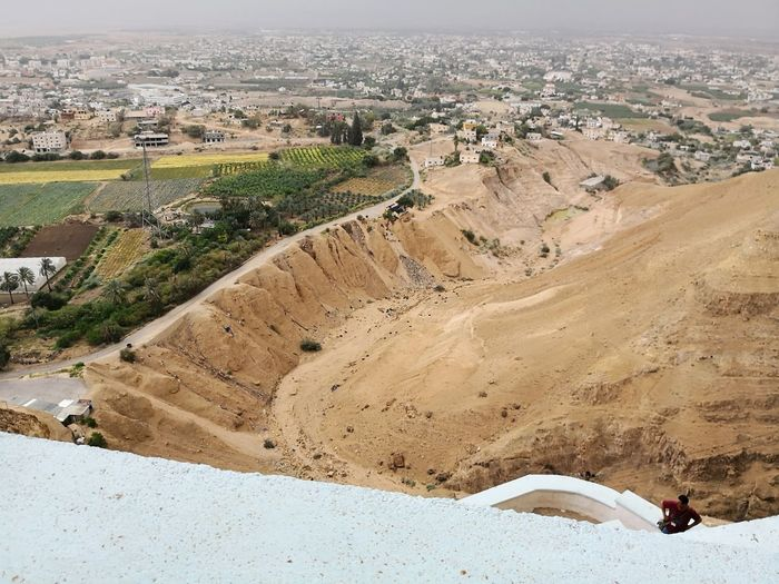 View from Mount of Temptation onto the valley of Jericho Jericho