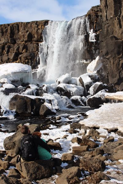 Cuddle up..... Flowing Water Iceland Geology Geography Frozenfalls Waterfall Iceland_collection Iceland Memories Tranquil Scene River Valley Fieldtrip Winter Pingvellir