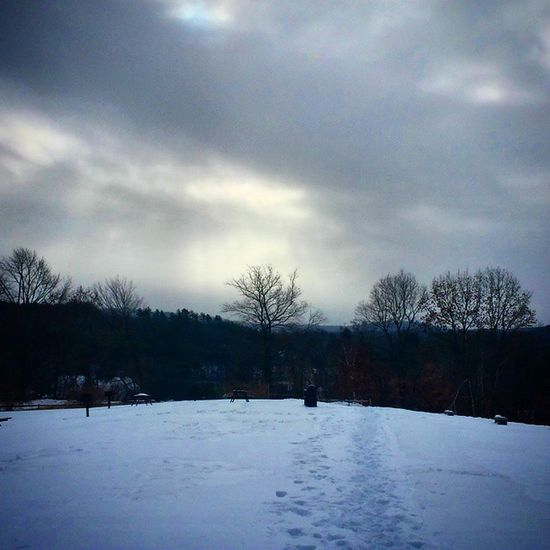 Foot steps Snowy Skyscapes Winter2015 Trees horizon tilton northfield Nature NewHampshire NewEngland