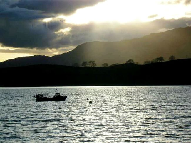 2010, Isle of Lismore from Port Appin Nautical Vessel Mode Of Transport Tranquility Sunset Silhouette Scotland Scenics Port Appin Isle Of Lismore