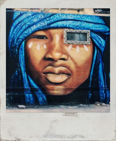 Streetart mural by Cêce Nobre Facial Experiments Parallel Universe Type Faces Photographic Approximation Open The Gates Of Your Mind Visual Communication