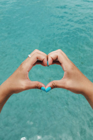 Loving summer in the Caribbean Beach Blue Blue Water Caribbean Close-up Day Female Female Hands Hands Heart Heart Hands Heart Shape Human Body Part Human Hand I Love You Love Nail Polish Outdoors Ovean Point Of View POV Summer Summer Vibes Vibes Water