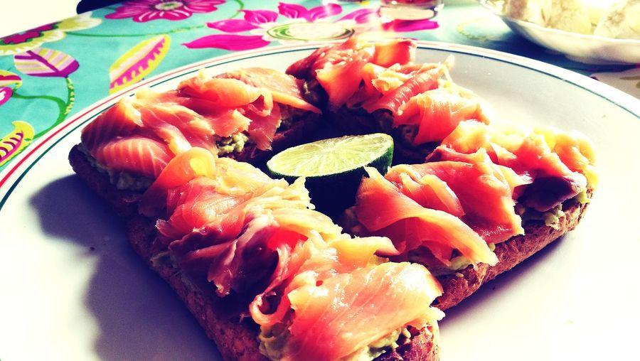 Food Plate Saumon Fumé Tartine Ready-to-eat