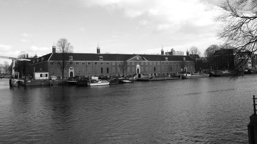 Blackandwhite Photography Amsterdam The Hermitage Canal Side Architecture The Hermitage Museum - Amsterdam