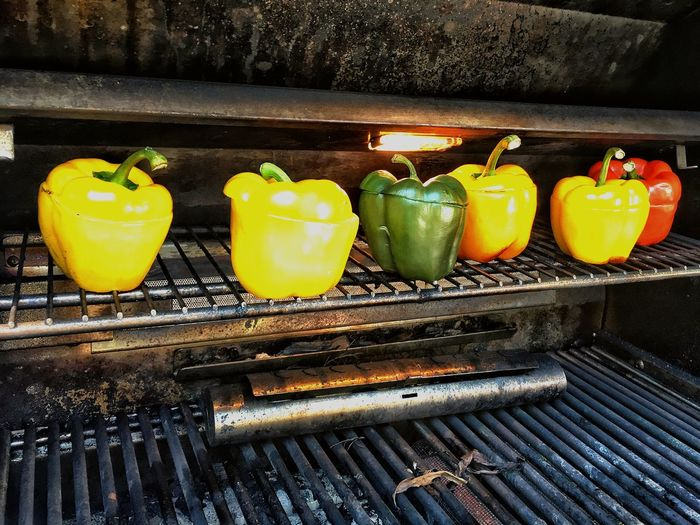 Yellow No People Day Outdoors Close-up Freshness Colorful Peppers Grilling Peppers Grilling Vegetables Freshness Food Lifestyles Yammy