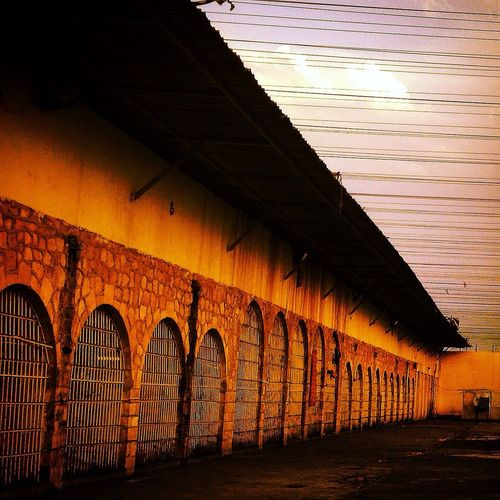 Prison Courtyard  Freedom Lines And Shadows Lines Detention Detention Center Corrections Wait Crime Punishment