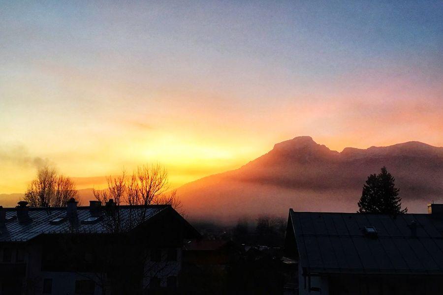 Sonnenaufgang über dem Kehlstein in Berchtesgaden