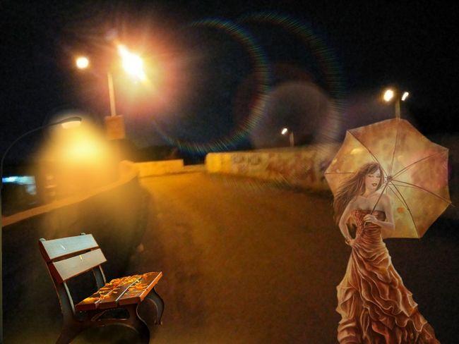 Night Chair Illuminated Light Light And Shadow Girl Under Bridge India Edited Edit Jaineesh Outdoors Mobilephotography Ahmedabad First Eyeem Photo Random Photography 2017newphotos No People Indoors  Girl Night Out Umbrealla