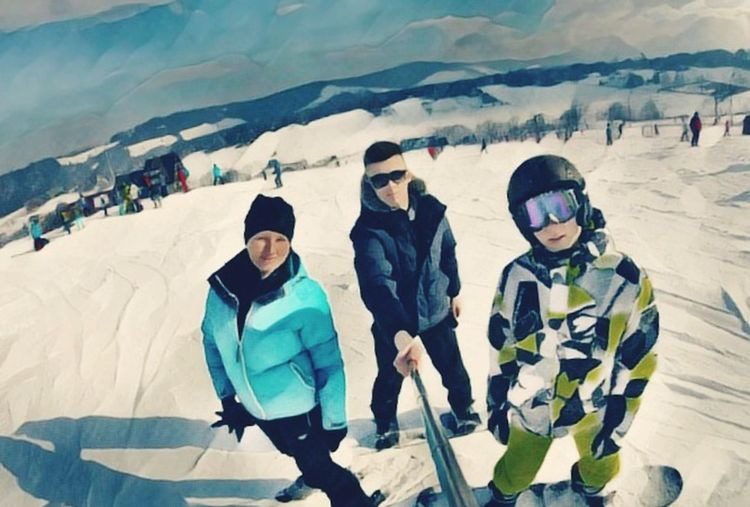 Adventure Ski Holiday Outdoors Looking At Camera Sport Mountain
