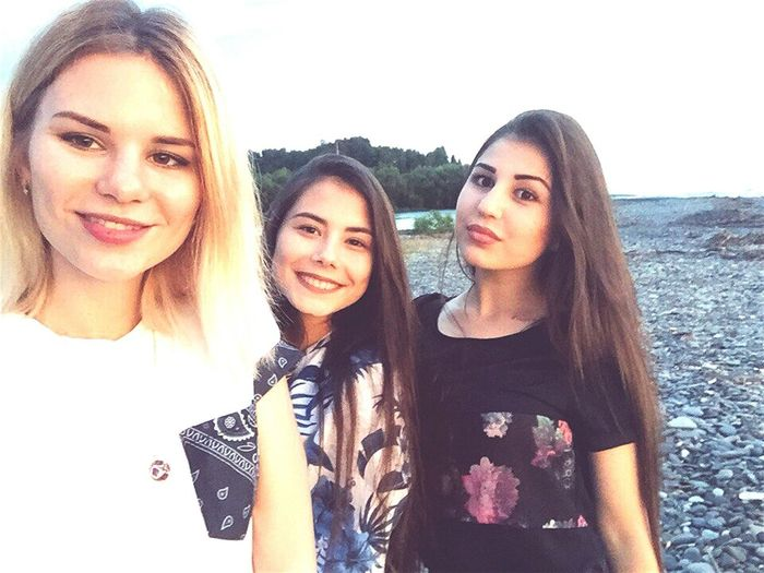 Friendship Young Adult Togetherness Lifestyles Teenage Girls Teenager Beautiful People Sky Beauty Women Young Women Sunlight Vacations People Bonding Youth Culture Summer City Leisure Activity Portrait Sochi😍 Black Sea♥ Beach Sea Favorite City