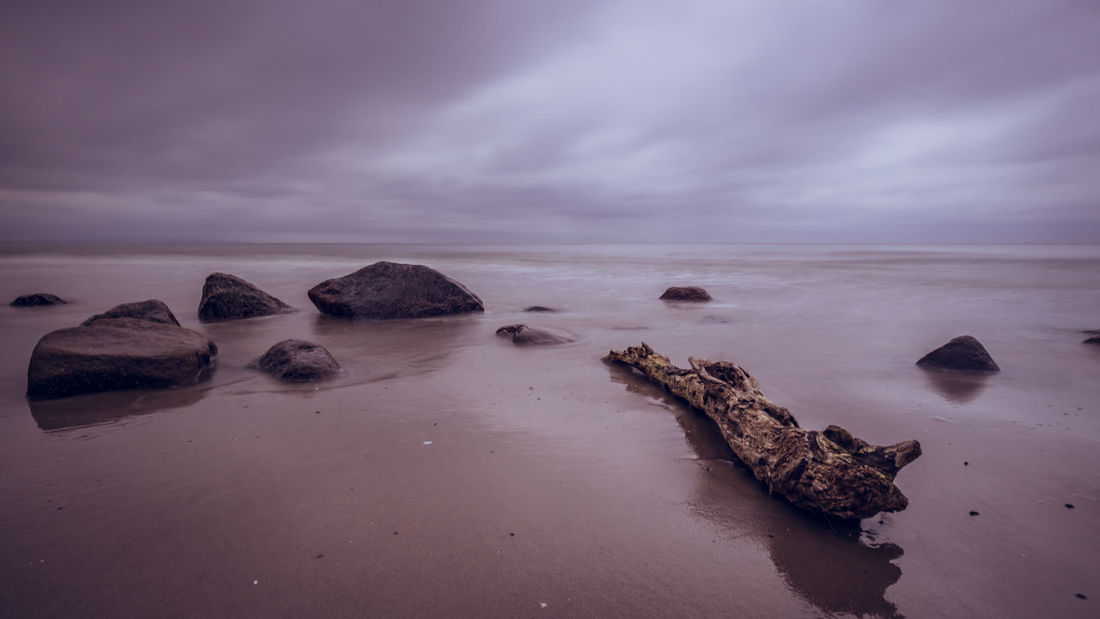 The Tree is out of the Water Baltic Ostsee Rügen Sky And Clouds Beach Beauty In Nature Cloud - Sky Horizon Horizon Over Water Land Long Exposure Longexposure Nature No People Outdoors Rock Rock - Object Scenics - Nature Sea Sky Solid Tranquil Scene Tranquility Water Waterfront