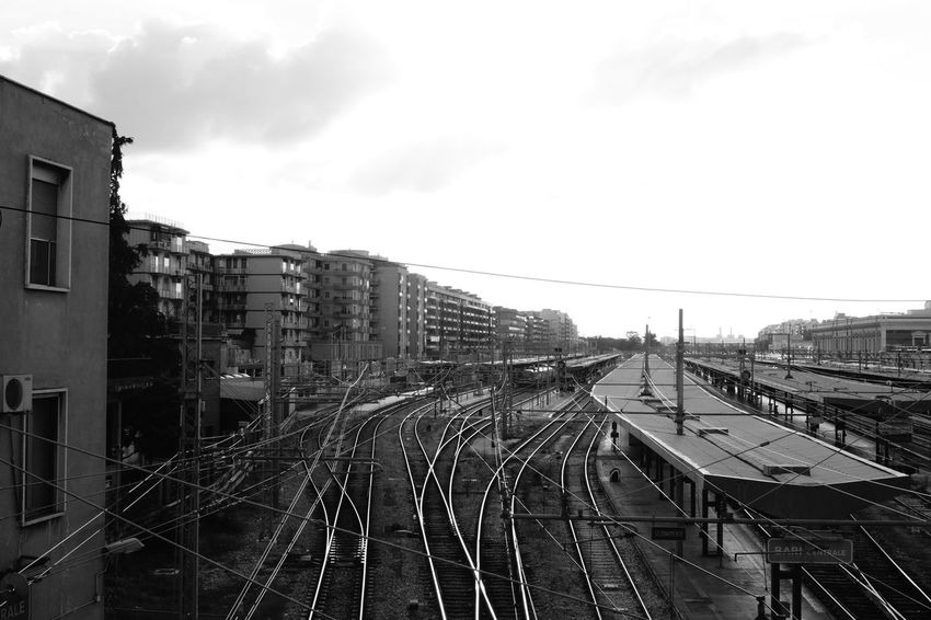 #railway #Afternoon #blackandwhite #greysky #MyCity #Rail #sky #station #streetphotography #Train #trainspotting #travel Architecture Building Exterior Built Structure City Outdoors Sky EyeEmNewHere