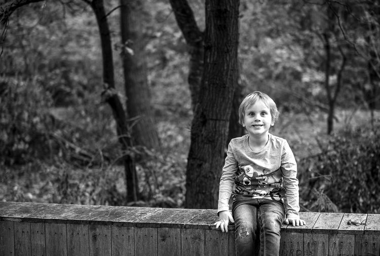 Nuff said... EyeEm Best Shots EyeEmNewHere Close-up Enjoying Life EyeEm Gallery Portrait Eye4photography  EyeEm Selects Boy Black And White Blackandwhite Black And White Tree Child Childhood Smiling Cute Happiness Blond Hair Innocence Front View