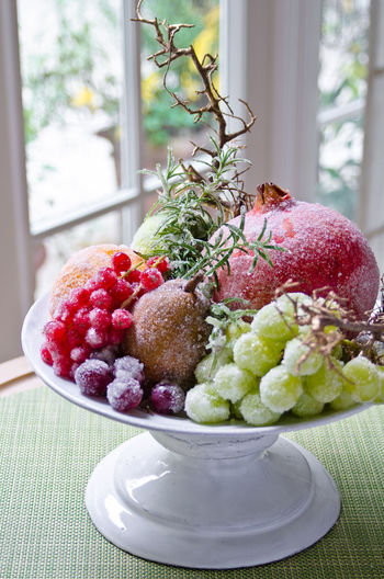 Food And Drink Herb Meal Temptation Winter Decoration Food Foodphotography Fresh Freshness Fruit Garnish Healthy High Angle View Indoors  Indulgence No People Organic Plate Ready-to-eat Serving Size Still Life Tabletop Window Yummy