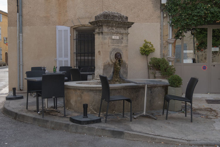 Fontaine de Mirabeau Architecture Beautifull France Building Exterior Built Structure Cafe Campagne Chair City Countryside Day Fountain Fountain Show Fountain_collection Fountains France Hometown Mirabeau Neighborhood No People Old Provencal Village Olive Tree Outdoors South Of France Table Village