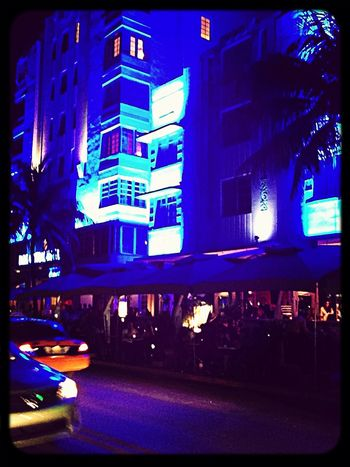Night Lights Ocean Drive Miami Night From Where I Stand