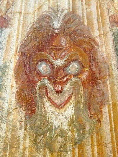 Fresco Decorations Pompeii  Roman Ruins Vesuvius  Museo Nazionale Di Napoli National Museum Of Naples Color Photography No People Archeology Roman Art Pompeian Fresco