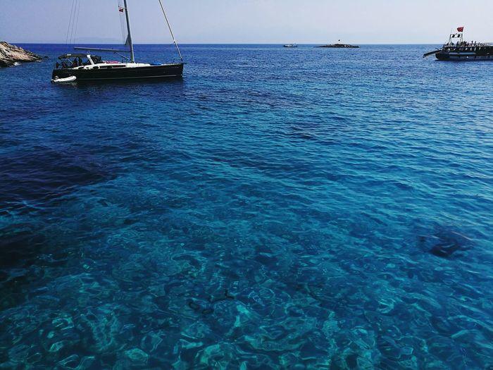 Sea Water Boat Blue Bodrum, Turkey Akvaryumkoyu